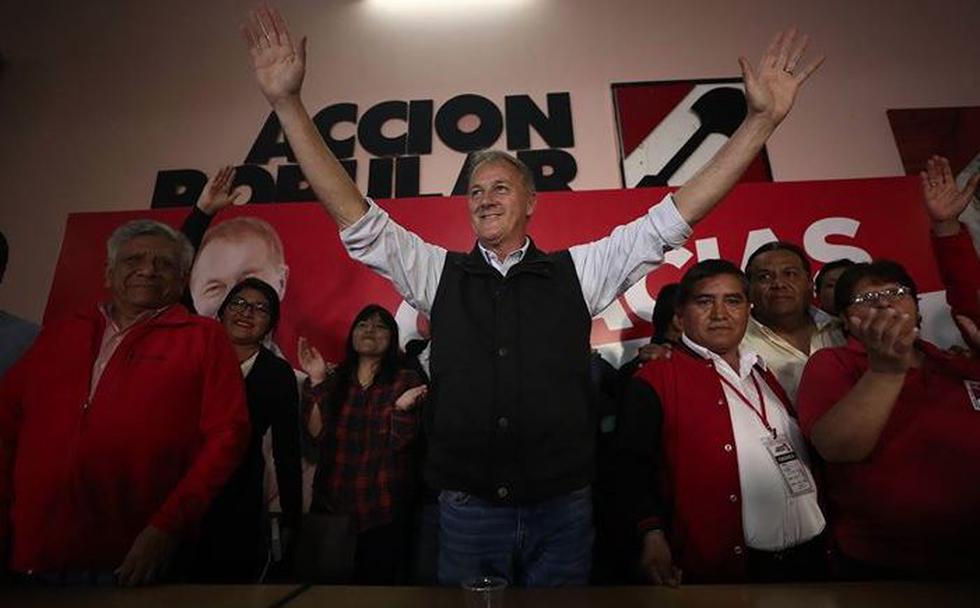 Jorge Muñoz es el electo alcalde de Lima con 34.8% al 86.6% del conteo de votos. (César Campos/Perú21)