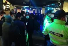 Intervienen discoteca clandestina en Cusco y hallan a más de 100 asistentes