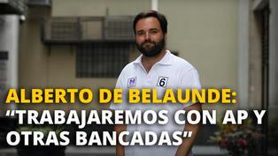 """Alberto de Belaunde: """"Vamos a defender el actual capítulo económico de la constitución"""" [VIDEO]"""