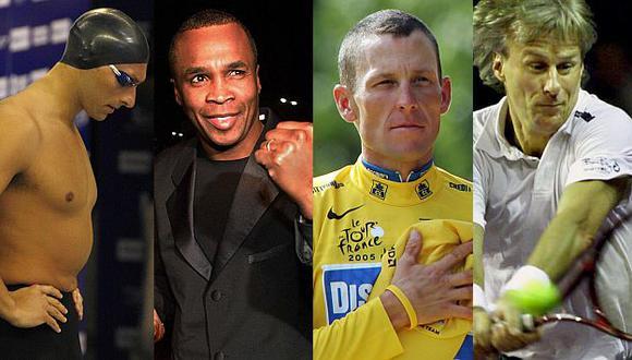 Ian Thorpe, Sugar Ray Leonard, Lance Armstrong y Björn Borg. Cuatro historias, un mismo final. (USI)