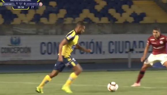 Josepmir Ballón dio asistencia para el gol de Universidad de Concepción. (Captura: Facebook)