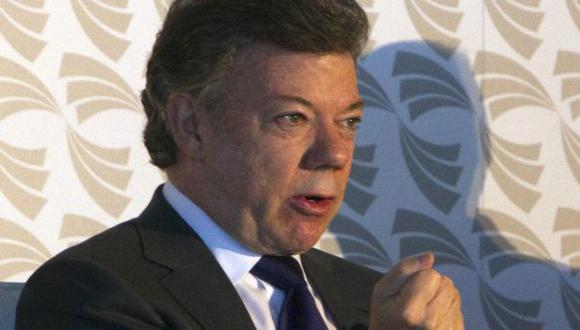 Juan Manuel Santos durante reunión de la Alianza del Pacífico. (EFE)