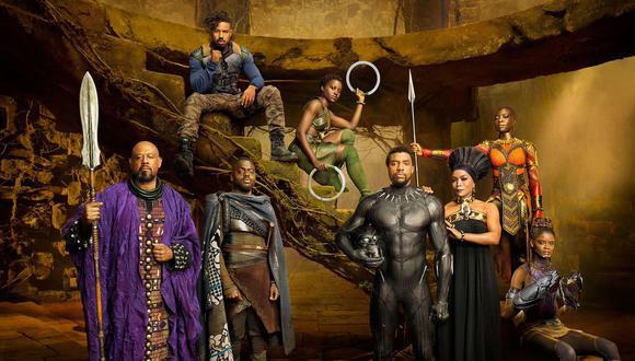 """""""Black Panther"""" acaba de ganar el premio a Mejor elenco de película en los SAG Awards 2019.  (Foto: Captura de pantalla)"""