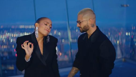 Maluma y Jennifer Lopez presentaron sus nueva colaboraciones musicales. (Foto: Captura YouTube)