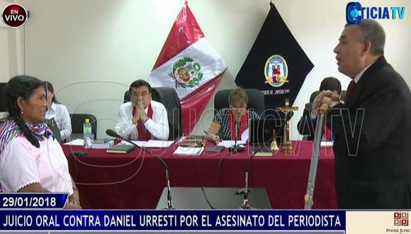 """""""Usted disparó al señor Hugo Bustíos que pasó en moto"""", dijo Rodríguez. (Justicia TV)"""