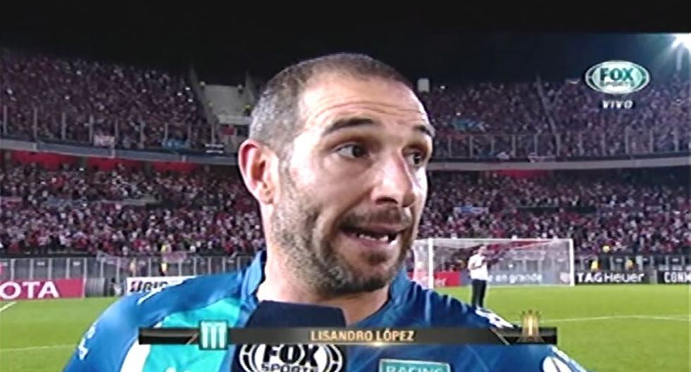 Lisandro López, jugador de Racing, dijo que fueron provocados por Enzo Pérez. (Foto: captura Fox Sports)