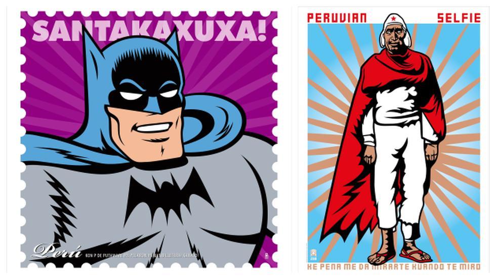 """Batman y """"El gigante de Paruro"""" de Martín Chambi (Difusión)."""
