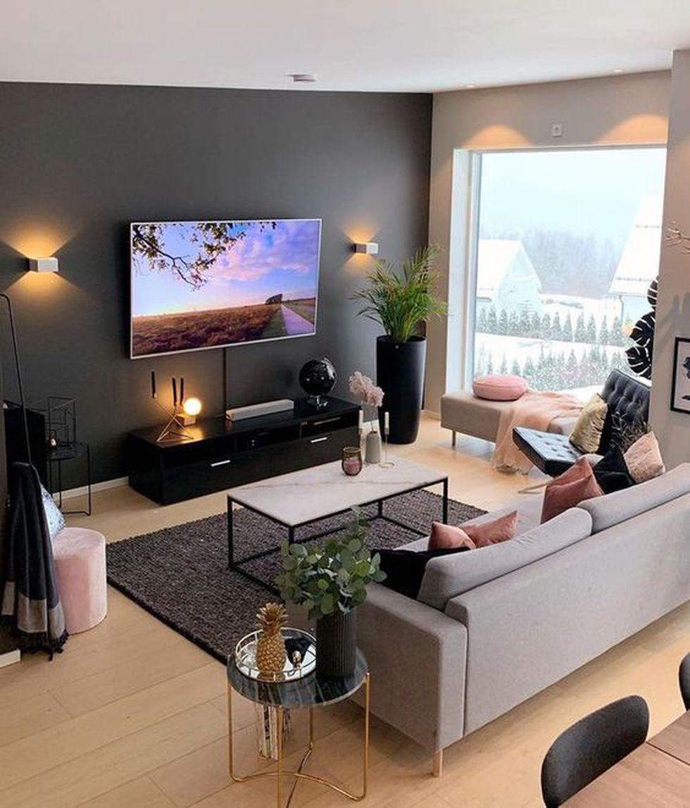 Entre el televisor y el mueble debe haber una distancia de 1,5 m. (Foto: Pinterest Siempreguapaconnormacano)