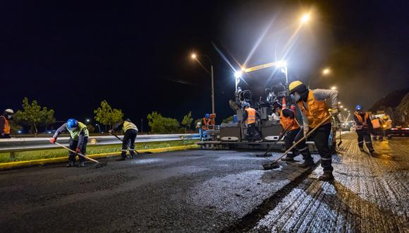 Mantenimiento de la Costa Verde se realiza entre las 10 de la noche y 5 de la madrugada para evitar la restricción del tránsito.