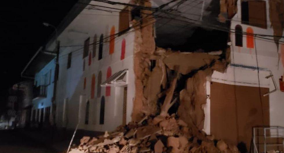 Durante esta madrugada se registró un fuerte sismo de magnitud 8.0, en la provincia del Alto Amazonas, en la región de Loreto. (Foto: Bomberos)