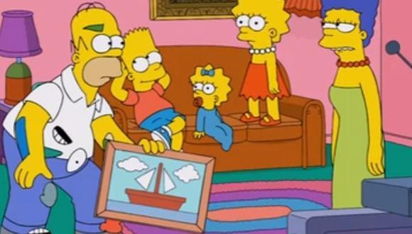 """""""The Simpsons"""": la historia que no sabías de la pintura del bote de la familia Simpson (Foto: FOX y Disney)"""