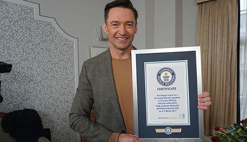 El actor Hugh Jackman recibió este premio gracias a su trayectoria como Wolverine. (Foto: Guinness World Records)