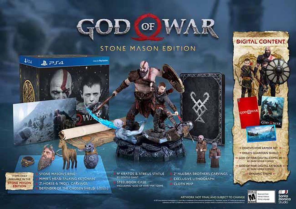 El día de hoy se ha revelado una edición de colección de la próxima entrega de Kratos.