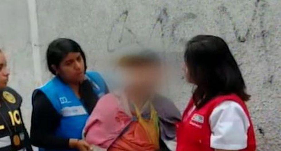 El sujeto será investigado por el delito de trata de personas con fines de mendicidad. (Foto: Captura/América Noticias)