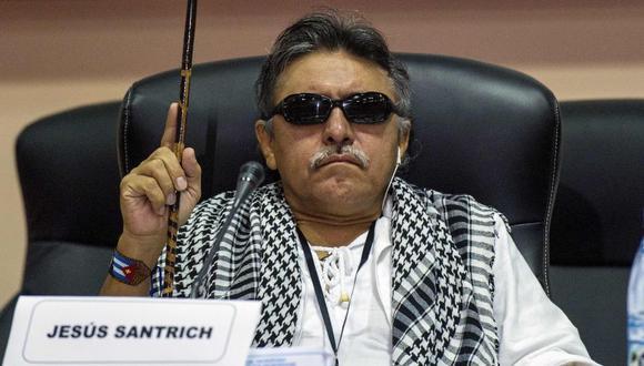 Jesús Santrich, ex líder de las FARC, juró como congresista en Colombia. (AFP)