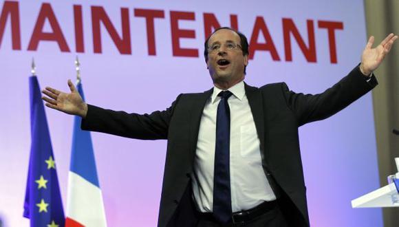 SACA VENTAJA. Hollande ratificó su condición de favorito. (AP)