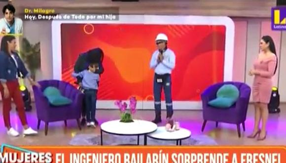 El 'Ingeniero bailarín' reapareció en TV para sorprender a niño que lucha contra la leucemia. (Foto: Captura de video)