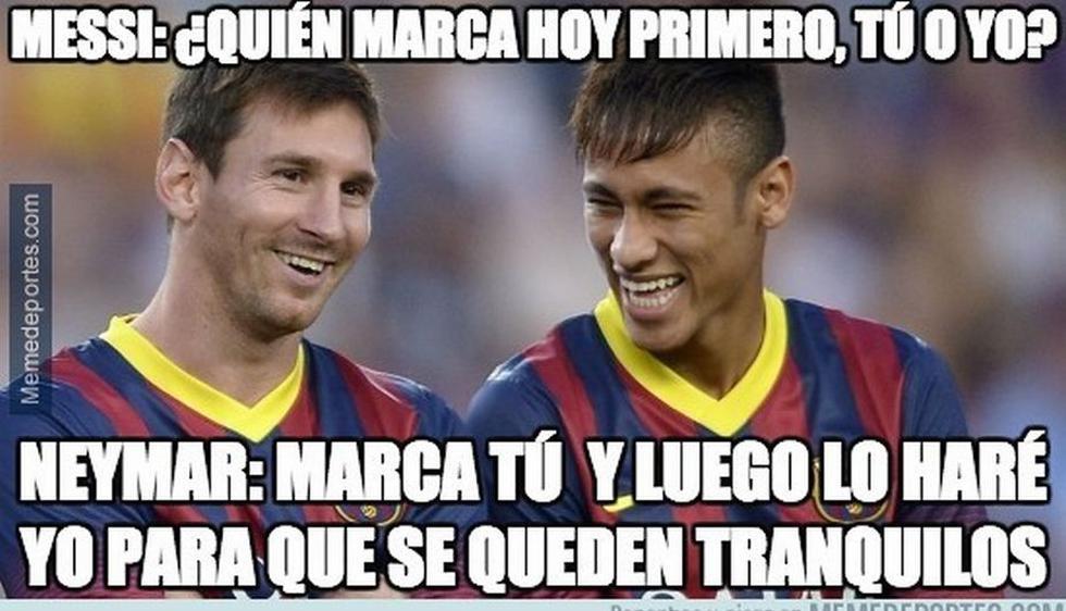 Lionel Messi y Neymar siguen haciendo de las suyas en el Barcelona. (Memedeportes.com)
