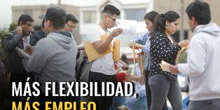 Más flexibilidad, más empleo