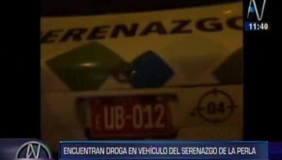 Callao: Detienen a sereno que vendía droga en su patrullero en La Perla. (Captura)