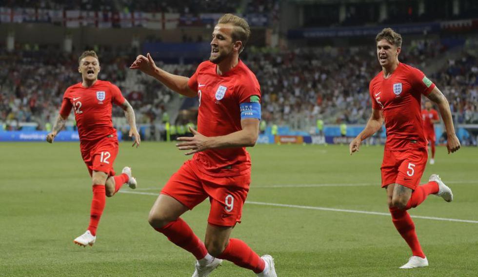 Kane marcó el 1-0 para Inglaterra. (AP)