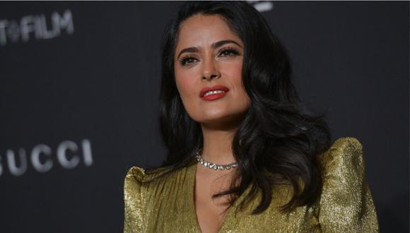 Salma Hayek también será presentadora en los Globos de Oro. (Foto: AFP)