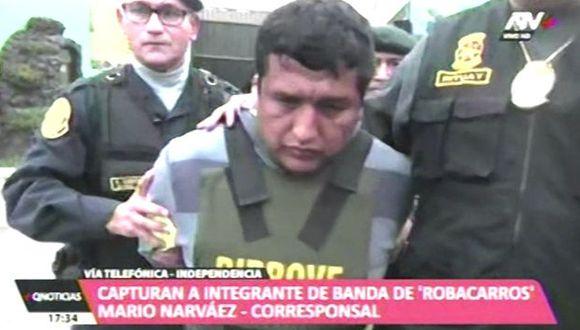 Iván Elvis Majino Asca, de 37 años, y sus cómplices aplicaron la modalidad del falso pasajero para asaltar a un taxista en la urbanización Pro, en San Martín de Porres. (ATV+)