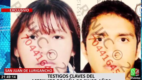 Kelly Rojas Páucar, y su pareja, Miguel Ángel Cigarróstegui Cavalier, son sospechosos de la muerte de una niña de 5 años. (24 Horas)