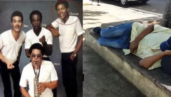 Manuel La Güira fue músico de Juan Luis Guerra y otros reconocidos artistas. Era el más solicitado pero terminó consumido por las drogas y deambulando por las calles de República Dominicana.(Foto: El Chico Sandy)