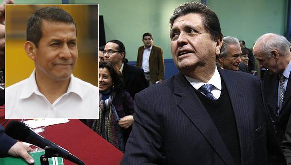 Alan García reta a Ollanta Humala a un debate. (David Vexelman)