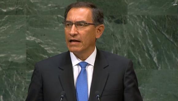 El presidente Martín Vizcarra participó en la 73 Asamblea General de las Naciones Unidas. (Foto: Facebook / Presidencia Perú)