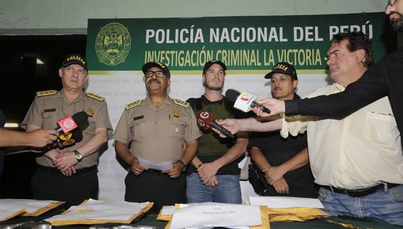 George Forsyth y el comandante PNP, José Lavalle, lideraron el operativo. (José Caja: GEC)