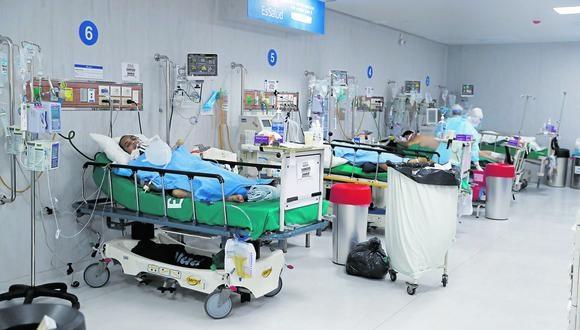 Hasta cuándo. Áreas UCI de hospitales se siguen colapsando. (Foto: GEC)