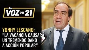 Yonhy Lescano declara que la vacancia causará un tremendo daño a Acción Popular