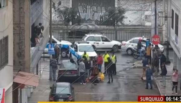 El hecho ocurrió en la cuadra uno de la calle Alejandro Dumas, en Surquillo. (Foto: Buenos Días Perú)