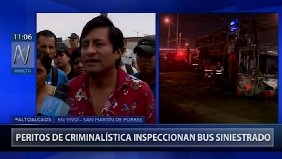 Sobreviviente del incendio de bus interprovincial se pronuncia. (Canal N)
