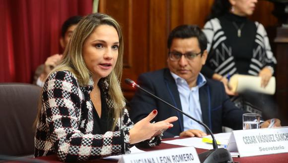 La congresista Luciana León indicó que la posición de su bancada es la acordada el último lunes en Junta de Portavoces. (Foto: Congreso)