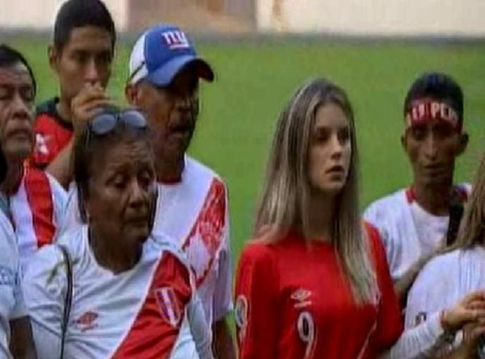 Thaísa Leal acudió a marcha en favor de Paolo Guerrero. (Captura)