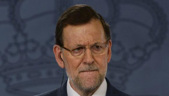 SE AFERRA AL CARGO. Mariano Rajoy niega tajantemente haber cobrado dinero de forma ilegal. (AFP)