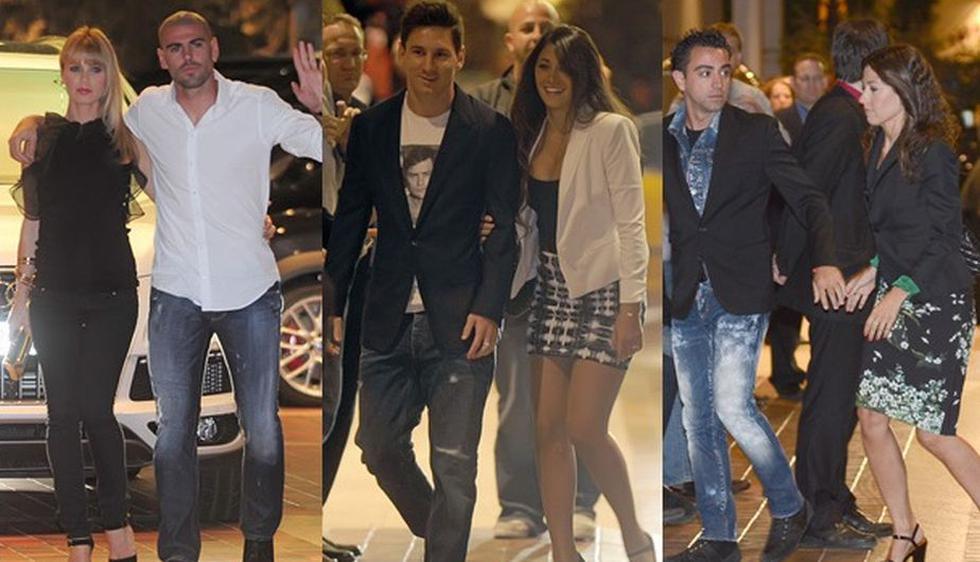 Los jugadores del Barcelona celebraron el título de la Liga Española, junto a sus respectivas parejas, en una cena. (Internet)