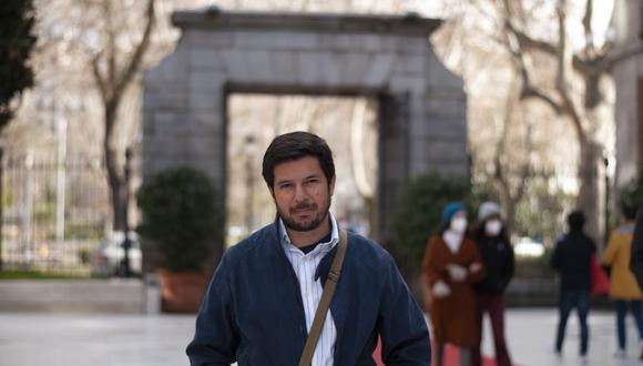 Renato Cisneros desde Madrid. (Foto: Natalia Freundt).