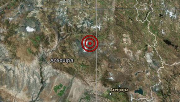 De acuerdo con el IGP, el epicentro de este movimiento telúrico se ubicó a 11 km al sur de Pinchollo, en la provincia de Caylloma. (Foto: IGP) (Foto: IGP)
