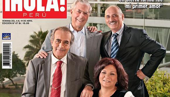 Vargas Llosa y el equipo de la obra teatral 'La Ciudad y los Perros'. (Difusión)