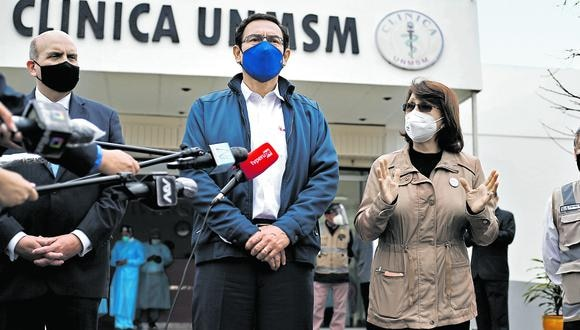 En problemas. Expresidente Vizcarra y exministra de Salud deberán afrontar investigaciones por aplicarse dosis a espaldas del pueblo. (Foto: Francisco Neyra/GEC)