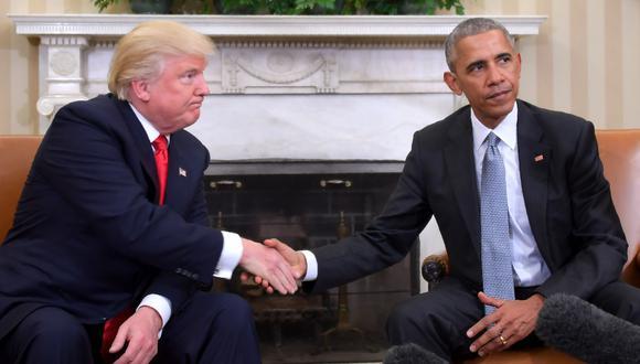 El presidente Donald Trump rompió con la tradición al pedir que se investigara a su antecesor de la Casa Blanca, Barack Obama, en el último intento de impulsar una teoría de conspiración sobre sus oponentes demócratas. (Foto: AFP/JIM WATSON)