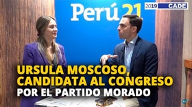 Úrsula Moscoso, candidata al congreso por el Partido Morado [VIDEO]