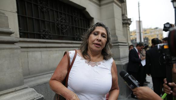 """""""Estoy pendiente de que se convoque a la instalación de la Comisión de Ética esta semana"""", señaló Zenaida Solís. (Foto: GEC)"""