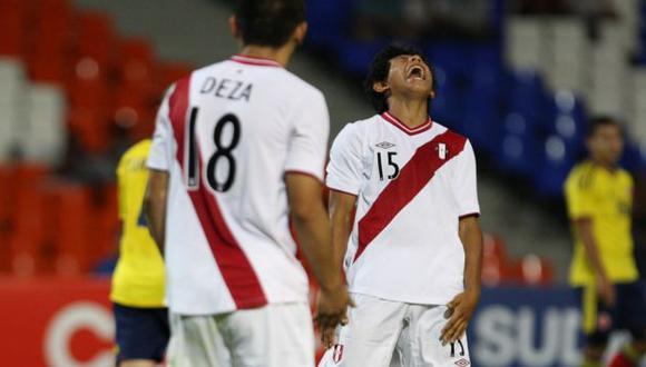 GRITO DE RABIA. Edison Flores no trascendió ante colombianos y Perú no tuvo creatividad. (Leonardo Fernández/USI)