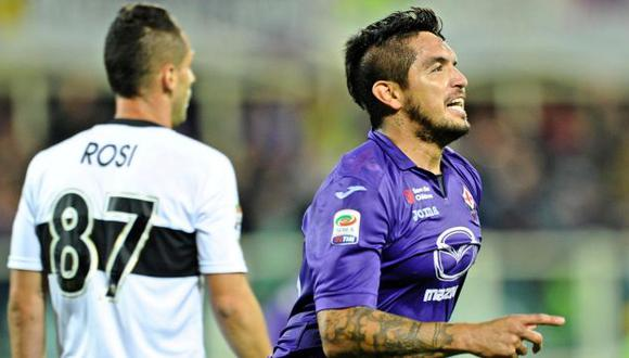 Revancha. Juan Vargas usa la camiseta 66 en la Fiorentina. Marcó luego de 29 meses. (EFE)