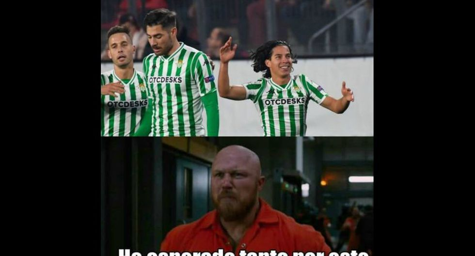 Los mejores memes tras el primer gol de Diego Lainez en Real Betis. (Foto: Facebook)